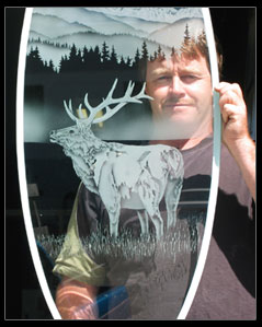 Paul Crawford Etched And Sandblasted Glass Artist In The